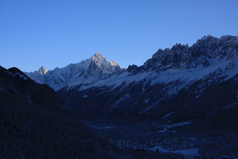 Chamonix valley looking towards the Aiguille Vert - from the Master bedroom