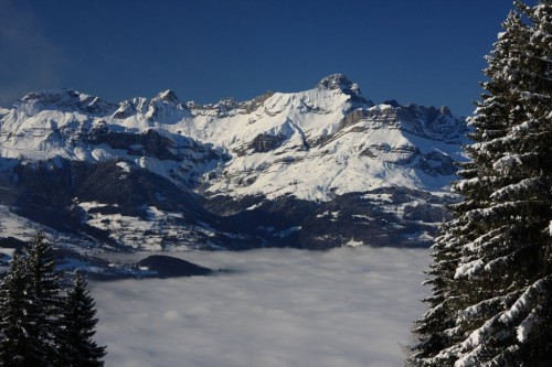 Looking at the Aravis range above the clouds