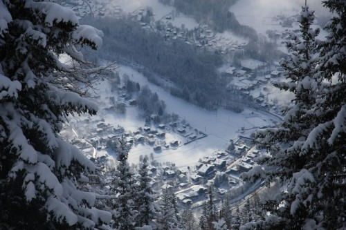 Looking down on Les Houches