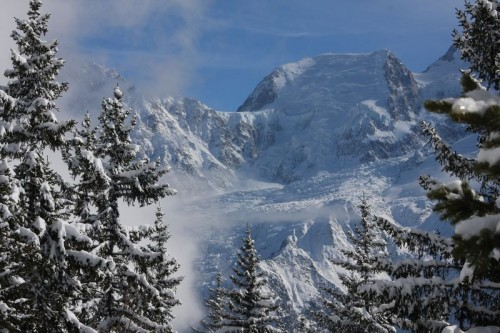 Mont-Blanc du Tacul and Glacier des Bossons