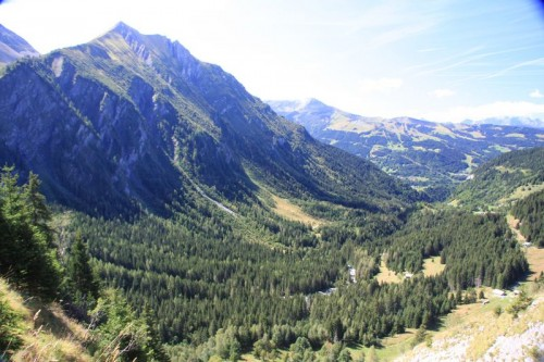 View down the Bionnassay valley