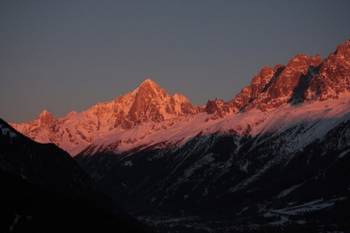 Sunset on the Mont-Blanc massif - 3rd Feb