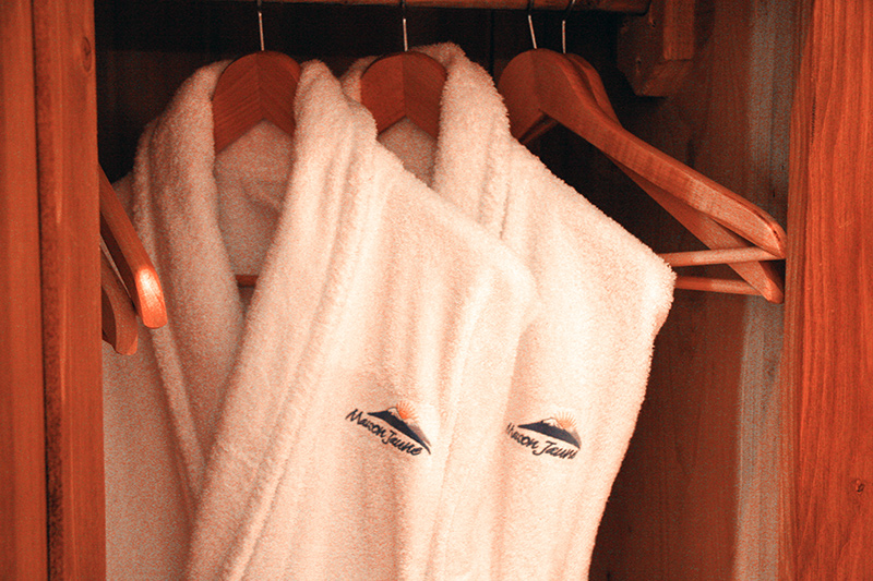 Warm cosy bathrobes for your personal use