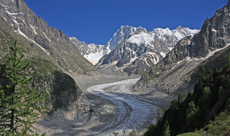 The Mer du Glace from Signal - just above Montenvers