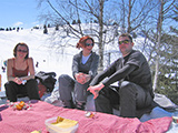 Picnic on the Piste with Jason, Alison and Julie - April 2007