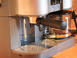 Our Krupps coffee and cappuccino maker