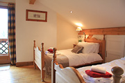 Pine bedroom - twin with ensuite facilities