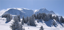 Magical views of Mont Blanc from the cross-country ski track of Les Houches